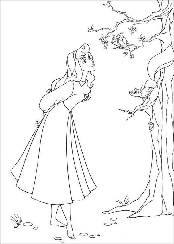 Princess Aurora Coloring Pages 11