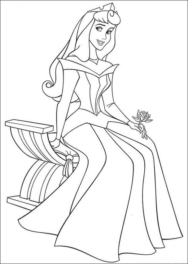 Princess Aurora Coloring Pages 2