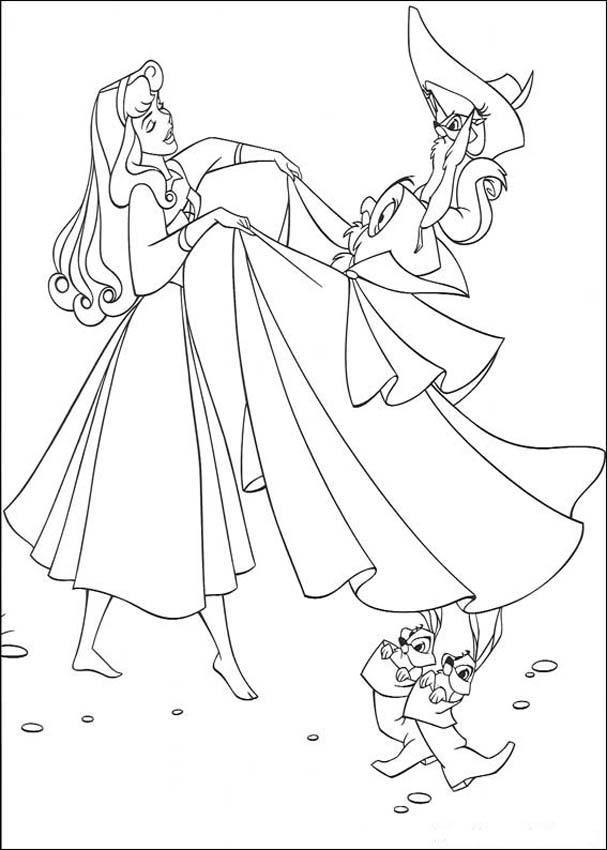Princess Aurora Coloring Pages 3