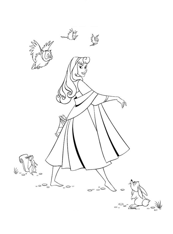 Princess Aurora Coloring Pages 5