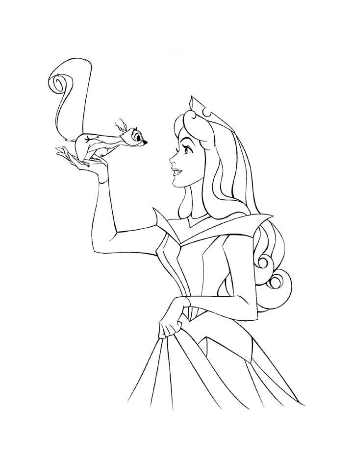 Princess Aurora Coloring Pages 6