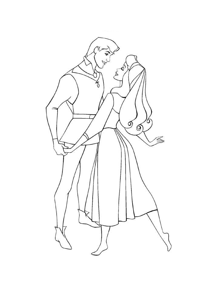 Princess Aurora Coloring Pages 7