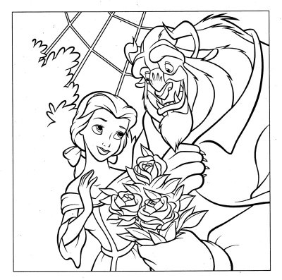 Princess Belle Coloring Pages 1