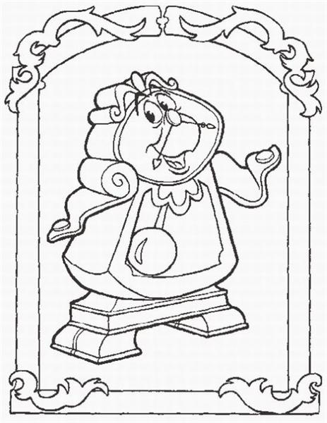 Princess Belle Coloring Pages 10