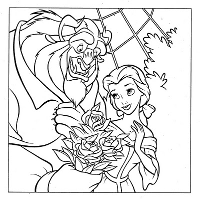 Princess Belle Coloring Pages 12