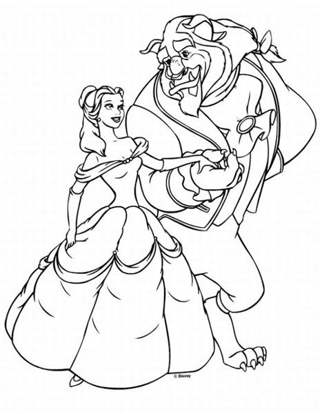 Princess Belle Coloring Pages 2