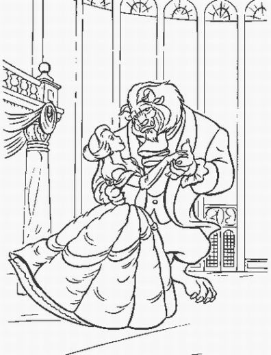 Princess Belle Coloring Pages 3
