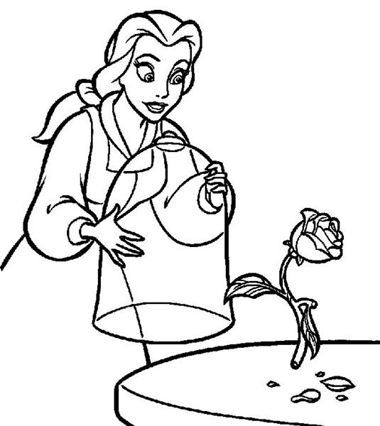 Princess Belle Coloring Pages 6