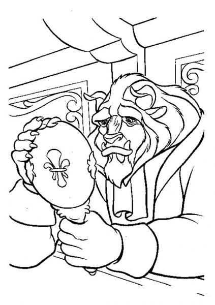 Princess Belle Coloring Pages 7