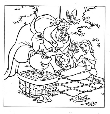 Princess Belle Coloring Pages 9