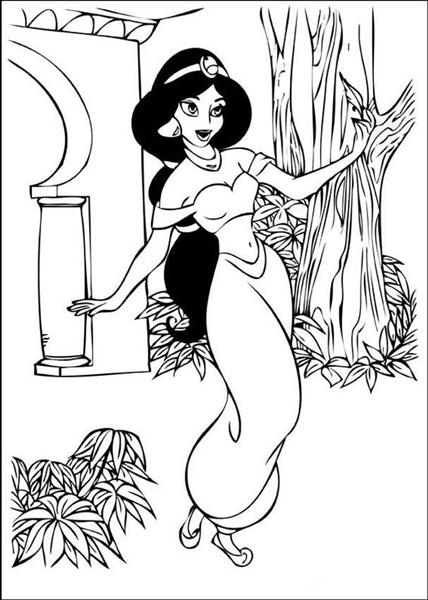 Princess Jasmine Coloring Pages 1