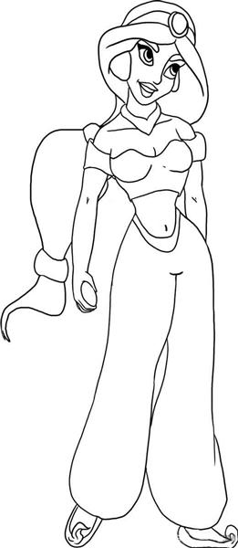 Princess Jasmine Coloring Pages 10