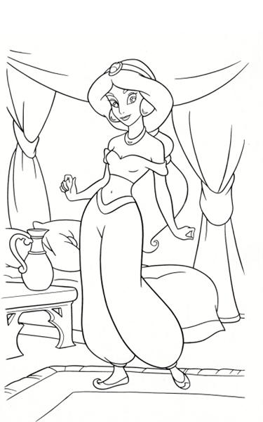 Princess Jasmine Coloring Pages 11