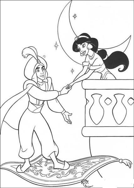 Princess Jasmine Coloring Pages 7