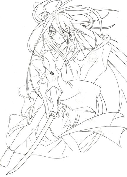 Shakugan No Shana II Coloring Pages 4