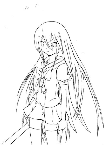 Shakugan No Shana II Coloring Pages 6