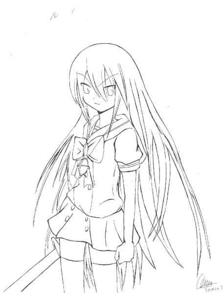 Shakugan No Shana II Coloring Pages 7