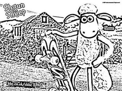 Shaun The Sheep Coloring Pages 10