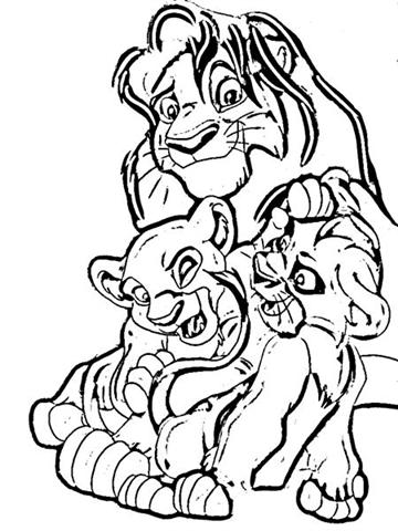 Simba Coloring Pages 11