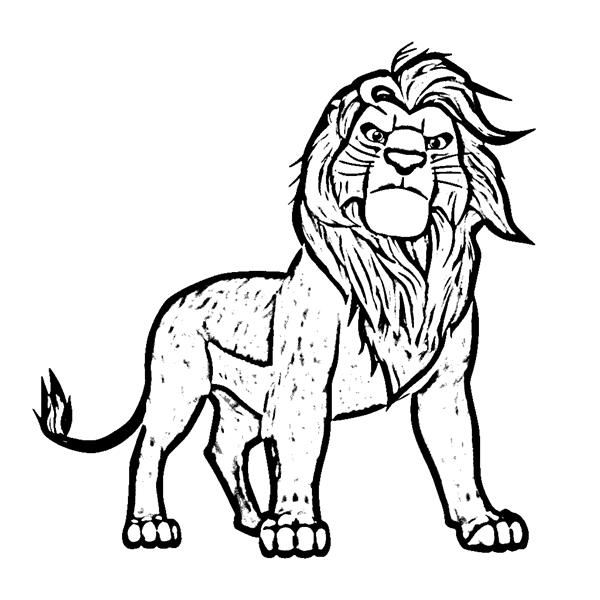 Simba Coloring Pages 12