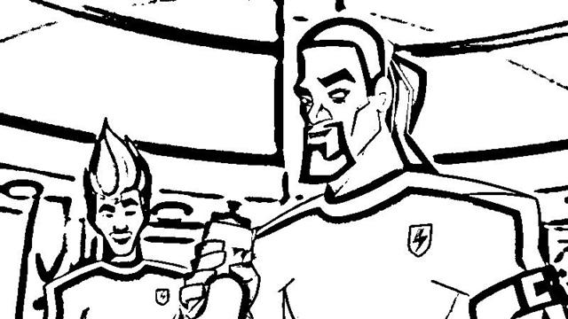 Supa Strikas Coloring Pages 7