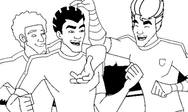 Supa Strikas Coloring Pages 8