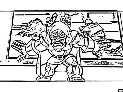 free superhero squad coloring pages - photo #23