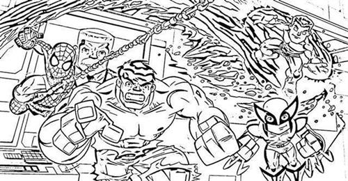 free superhero squad coloring pages - photo #37