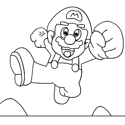 Super Mario Coloring Pages 8