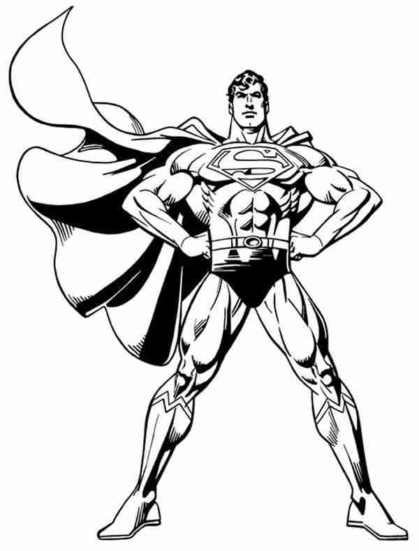 Superman Coloring Pages 8