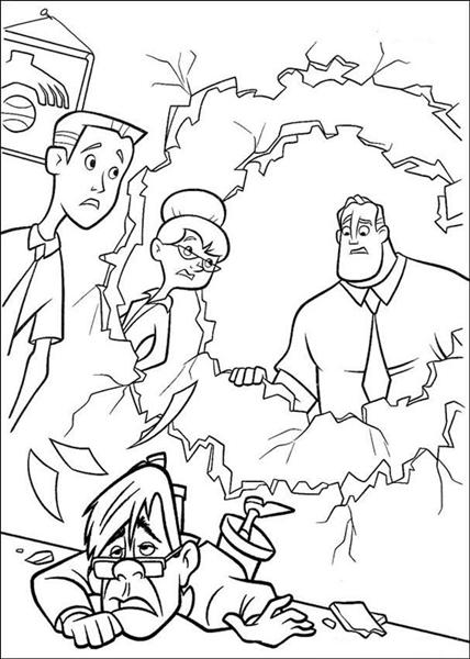 The Incridible Coloring Pages 1