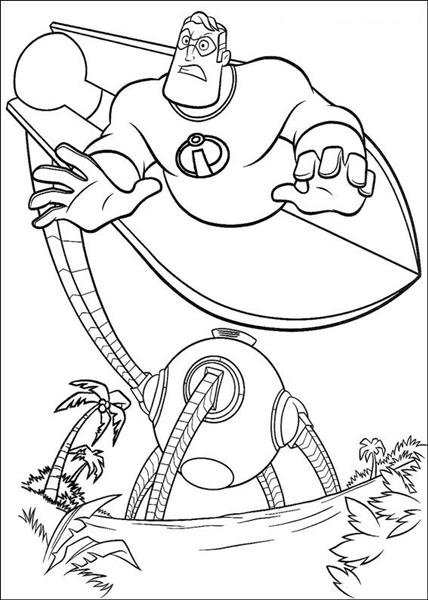 The Incridible Coloring Pages 12