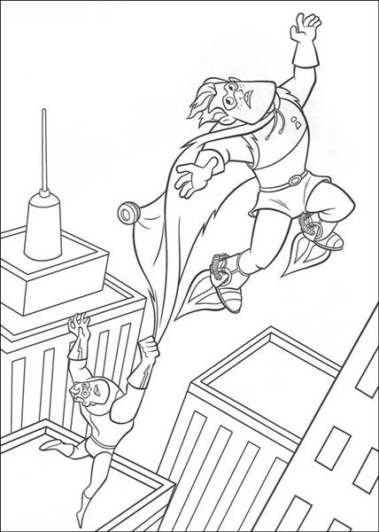 The Incridible Coloring Pages 6