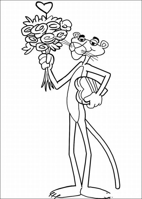 The Pink Panther Show Coloring Pages 9