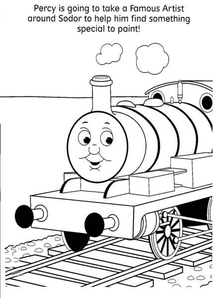 Thomas Coloring Pages 4