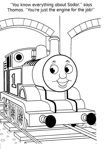 Thomas Coloring Pages 5