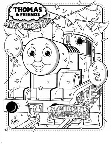 Thomas Coloring Pages 2