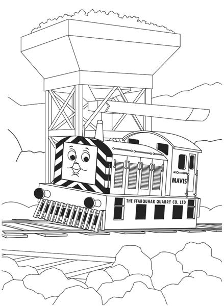 Thomas Coloring Pages 9