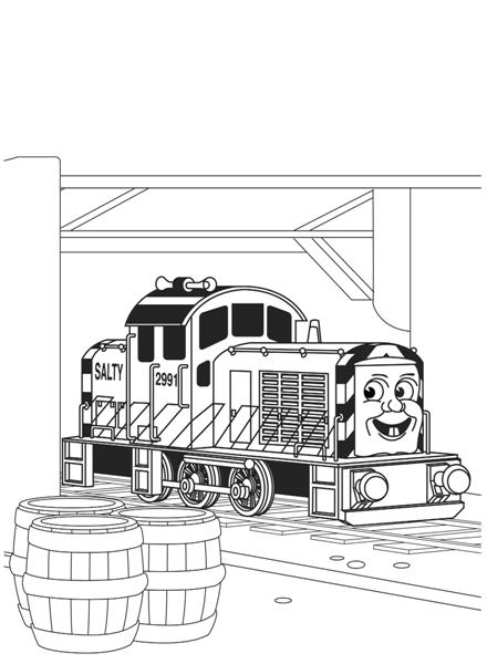 Thomas Coloring Pages 10