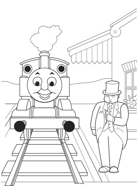 Thomas Coloring Pages 11
