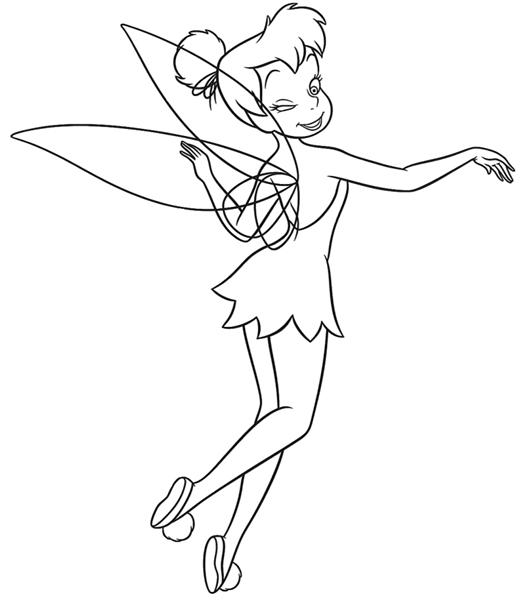 Tinkerbell Coloring Pages 3
