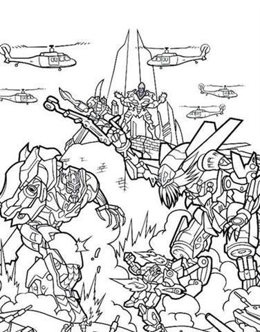 Transformer Coloring Pages 1