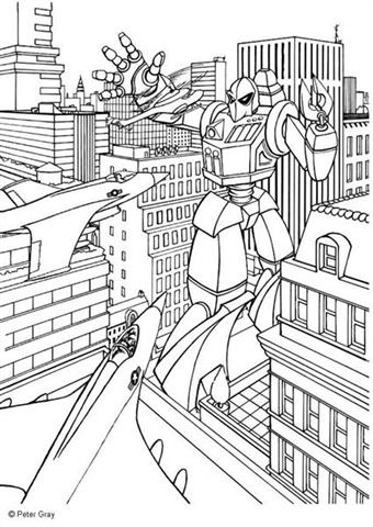 Transformer Coloring Pages 3