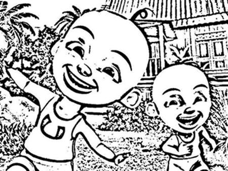 Upin & Ipin Coloring Pages 1