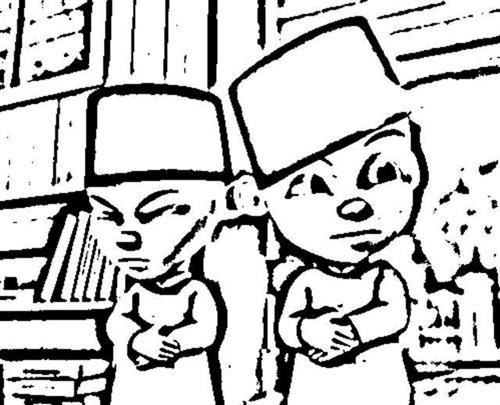 Upin Ipin Coloring Pages
