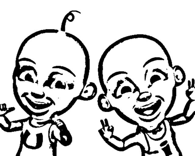 Upin & Ipin Coloring Pages 3
