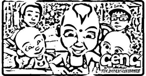 Upin & Ipin Coloring Pages 9
